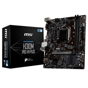 MSI Intel H310M PRO VH PLUS 32GB DDR4 LGA1151 PCI-E SATA m ATX Gaming  Motherboard