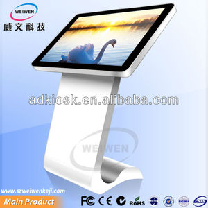 Silver and black iphone beautiful design lcd infrared 42 inch industrial touch screen kiosk pc manufacturer