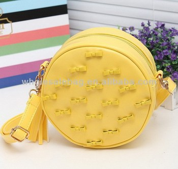 Girl's Bowknot Round Sling Bag Fashion Women's Small Messenger Bag ...