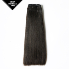 5A Grade 100% Human Hair 100g/pc Virgin Natural Color Remy Weft Hair Extension