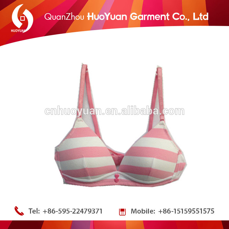 2016 huoyuan Factory Latest Amazing Design Spandex 100% Cotton Women Unlined Maternity Bra