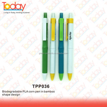 ECOZONE Universal audit factory Hot Sales Cheap PLA Custom Shape biodegradable corn pen