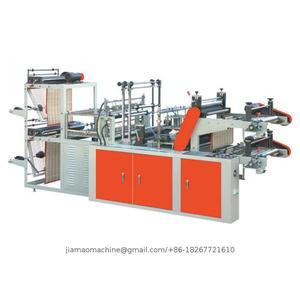 Ribbon- through continuous rolled bag making machine