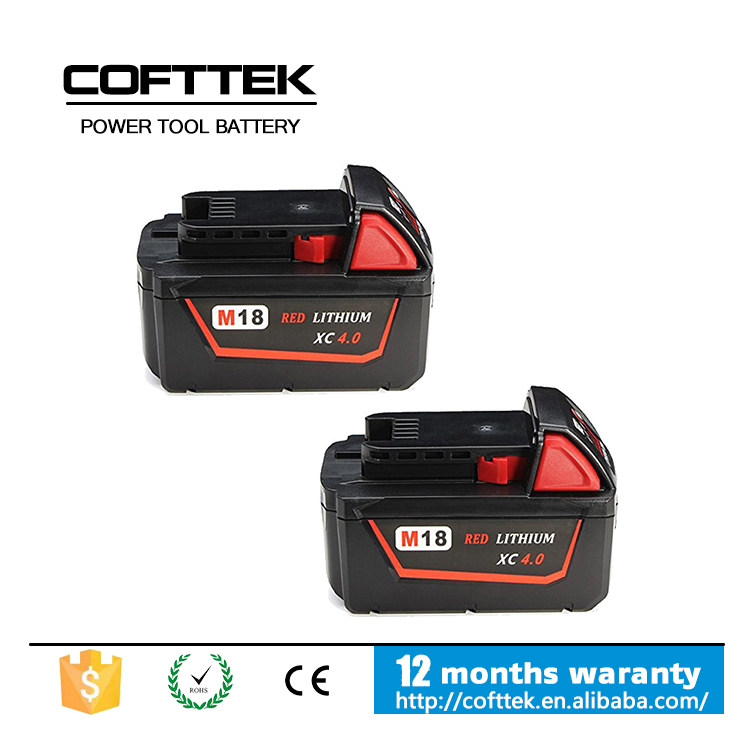 Wholesale replacement milwaukee 18v 3.0ah li-ion rechargeable cordless drill battery for milwaukee tools