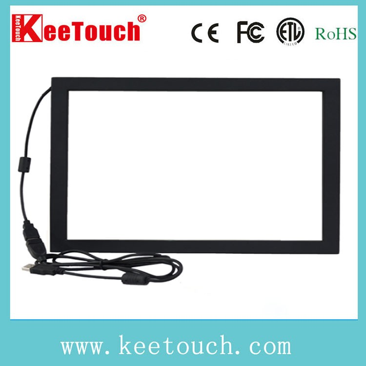 "17"" SAW transparent glass touch panel screen"