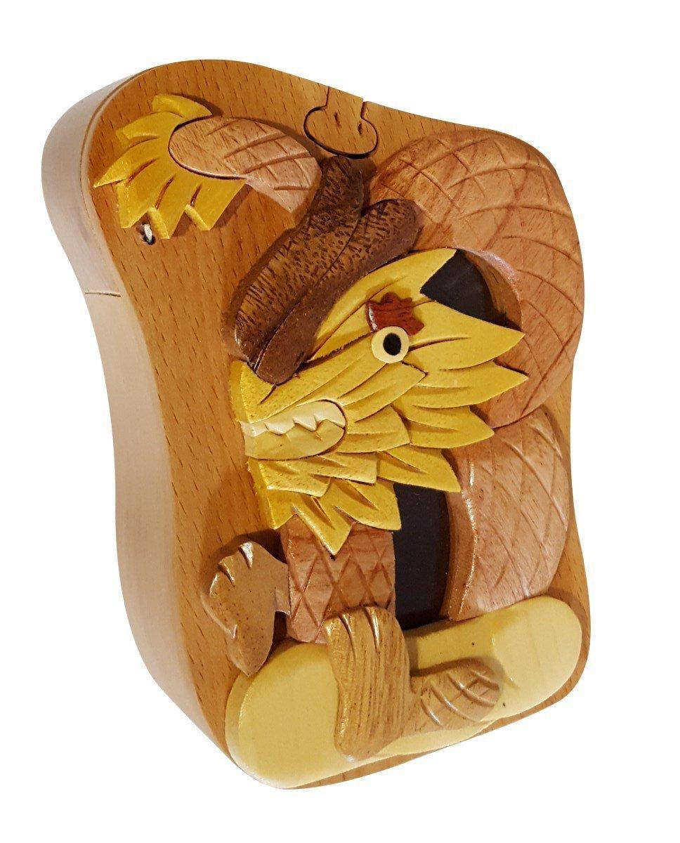 Handmade Dragon 3 Wooden Money Box Piggy Bank (4736)