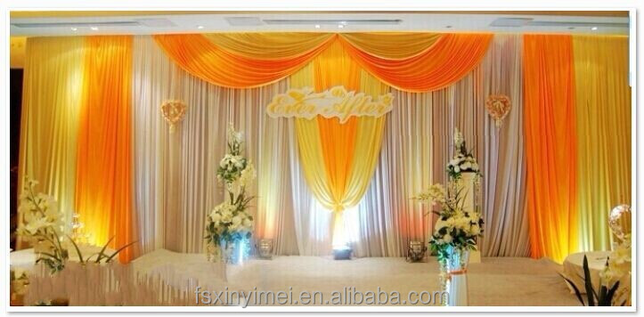 factory price wedding backdrop curtains(professional factory)