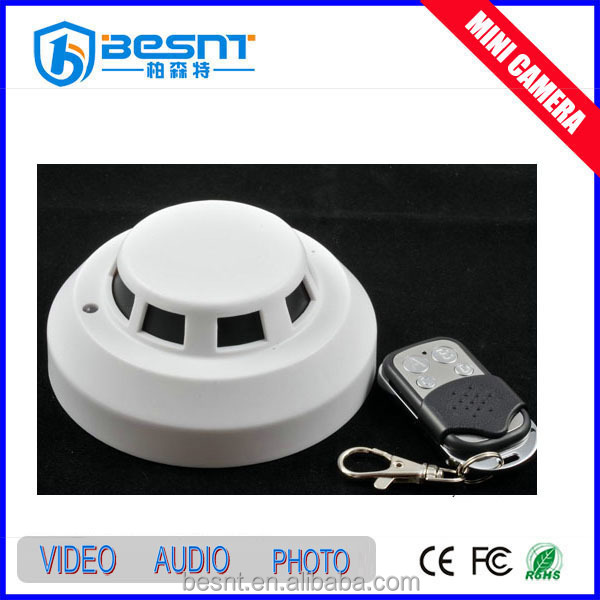 2015 new HD1080P CMOS Wireless video smoke detector hidden camer cheap price BS-794P