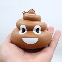 Mskwee Cute Cartoon Simulation Poo Squishy Kawaii Soft Slow Rising Anti-stress Squeeze Toy Kids Joke toy Fun Gag Gift Squishes