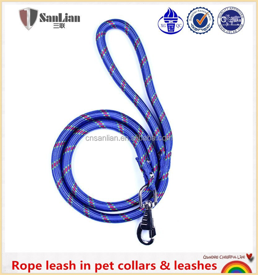 Barato nylon rope leash em pet coleiras e trelas