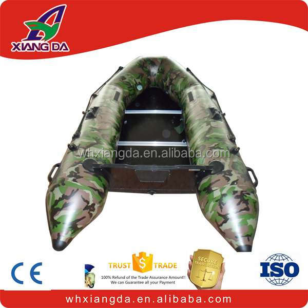 Durable fishing plywood floor inflatable boat