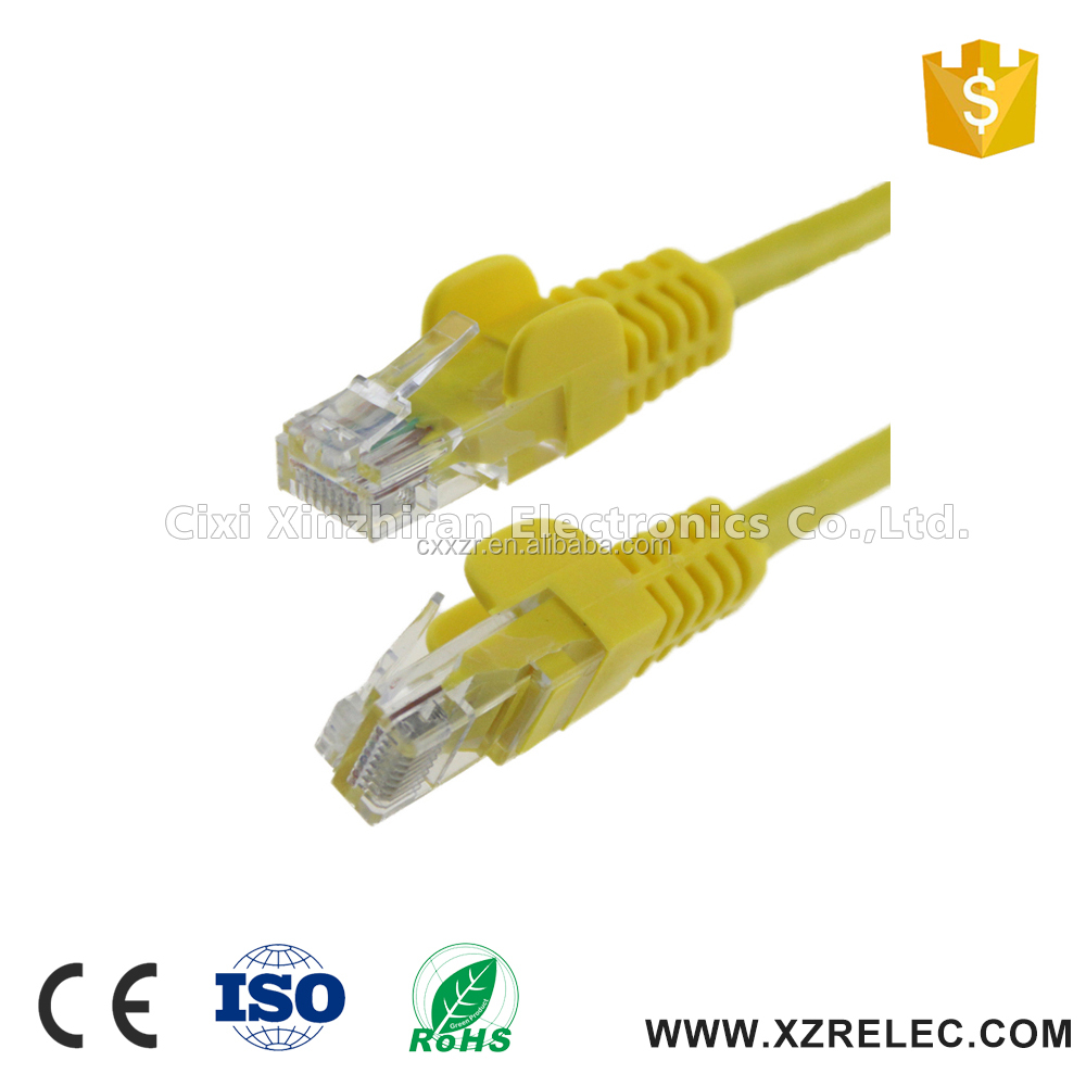High Quality RJ45 Cat5e Molded Patch Cable - Yellow