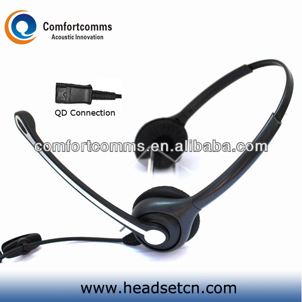 Binaural noise cancelling call center headphone high quality low price headset with mic HSM-602FPQD