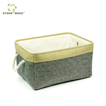 2018 Factory Supply Attractive Price Cotton Rope Handle Baby Cloth Storage  Bins