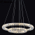 Large hotel K9 crystal chandelier lighting led modern crystal lighting