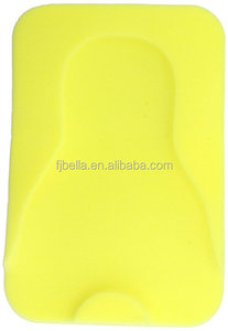 Soft foam infant bath sponge Slip-resistant material for safe bathing ,yellow