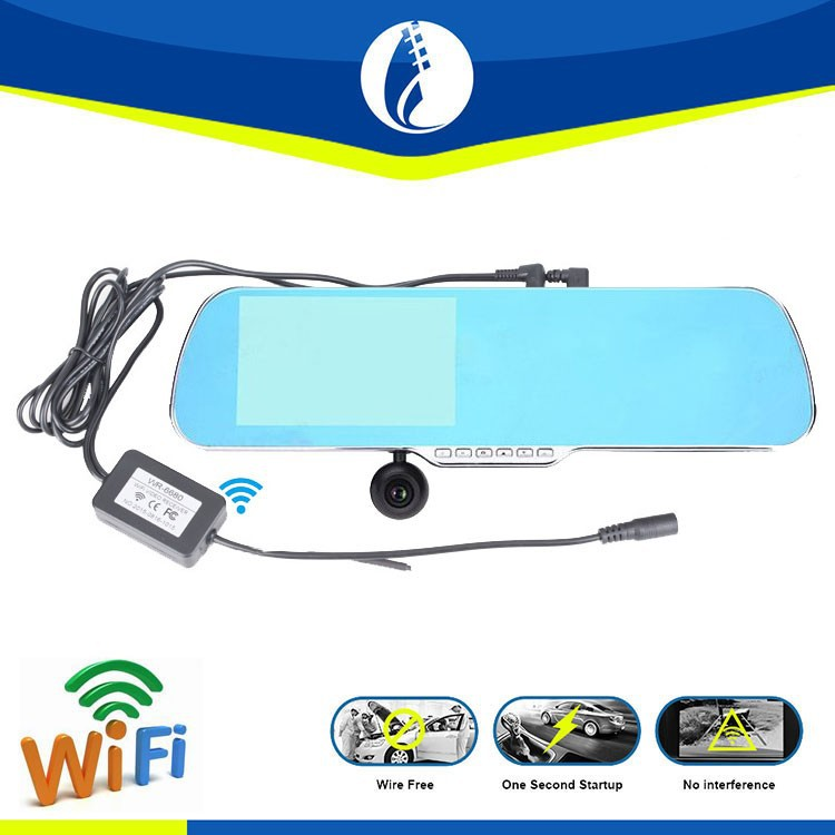 5inch <strong>LCD</strong> Android GPS wireless wifi hd Hidden key-press Car Rearview Mirror with Night Vision Camera