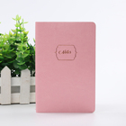 pink leather soft cover notebook or diary with custom logo