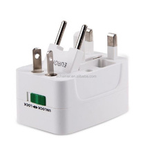 Vendita calda universal plug usb travel adapter/adattatore viaggi per il mondo, multiuso <span class=keywords><strong>spina</strong></span>, travel adapter con usb