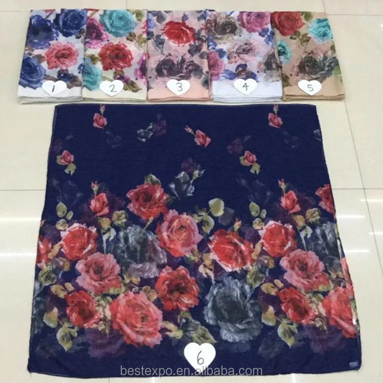 2017 wholesale new design shawl girl fahion hijab Malaysia chiffon scarf