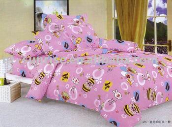 Handsome Pig Design 100%cotton Pigment Printing 4pcs Bedding Set(MDXDD)