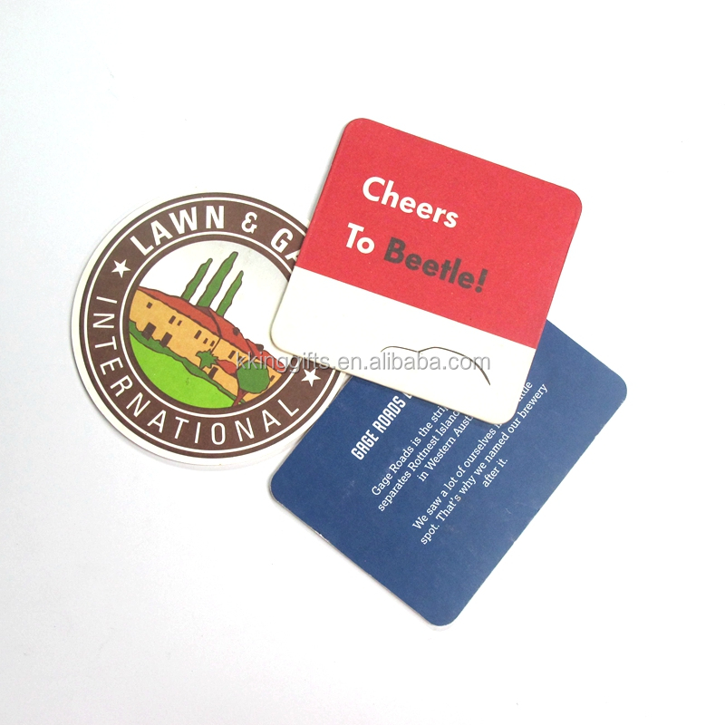Custom college paper coasters wholesale