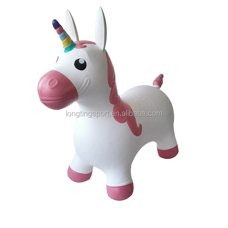 unicorn inflatable bouncer/inflatable bouncer house for kids ride on