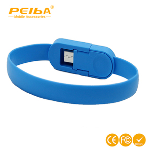 Ultra portable bracelet cable charger for iphone, Wristband fast charge cellphone cable