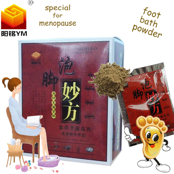 YangMing foot bath powder professional curing menopause pain relief for elderly health care