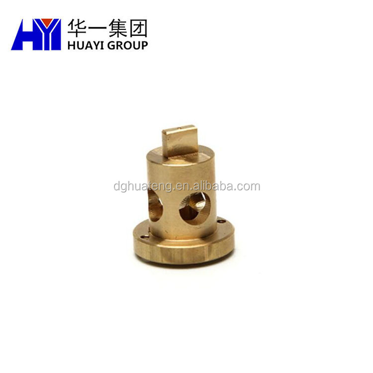 Custom CNC machining brass parts terminal connecting part in Dongguan