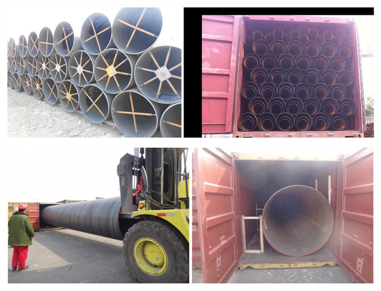 SAW spiral welded carbon steel pipe for hydropower penstock