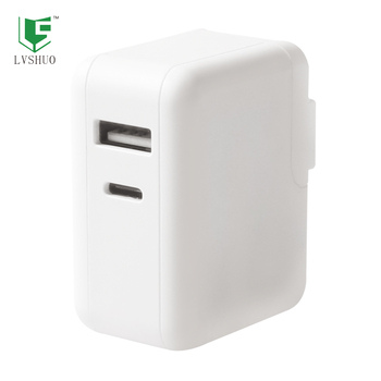 36W USB-C Power Adapter 5V 3A/ 9V 3A/ 12V 2.5A/ 15V 2A/ 18V 1.5A/ 20V 1.5A White Mobile Phone USB Type C Charger