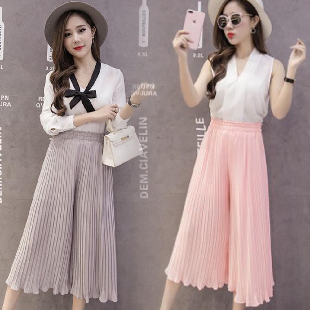Venta Al Por Mayor Moda Coreana Mujer Verano Pantalones Falda Plisada Buy Falda Pantalones Para Mujer Falda De Verano Para Mujer Falda Plisada Para Mujer Product On Alibaba Com