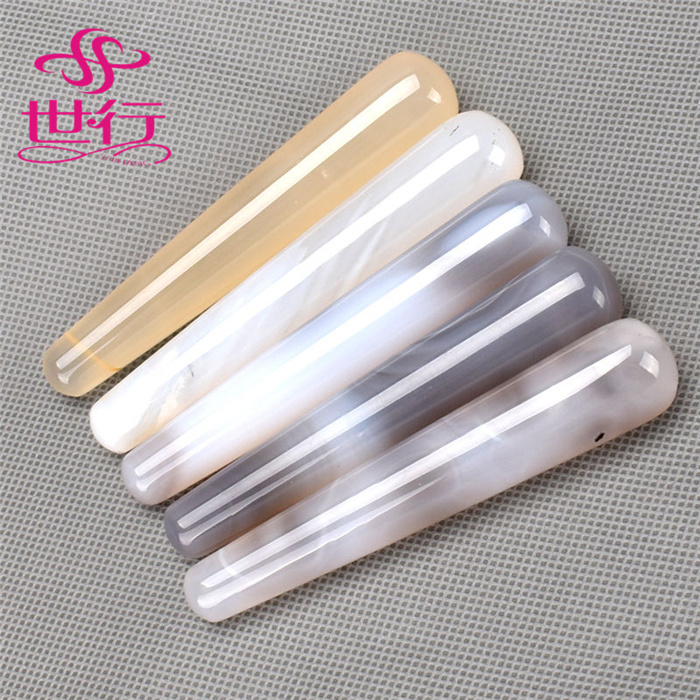Natural agate facial wand massager for body