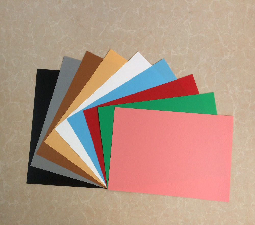 Non toxic and recyclable custom colored pp/pvc sheet for photo editing /Gallery background