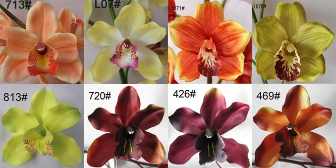 Cymbidium Orchid Manufacturer, Artificial/Silk/Fabric/Fake Flowers