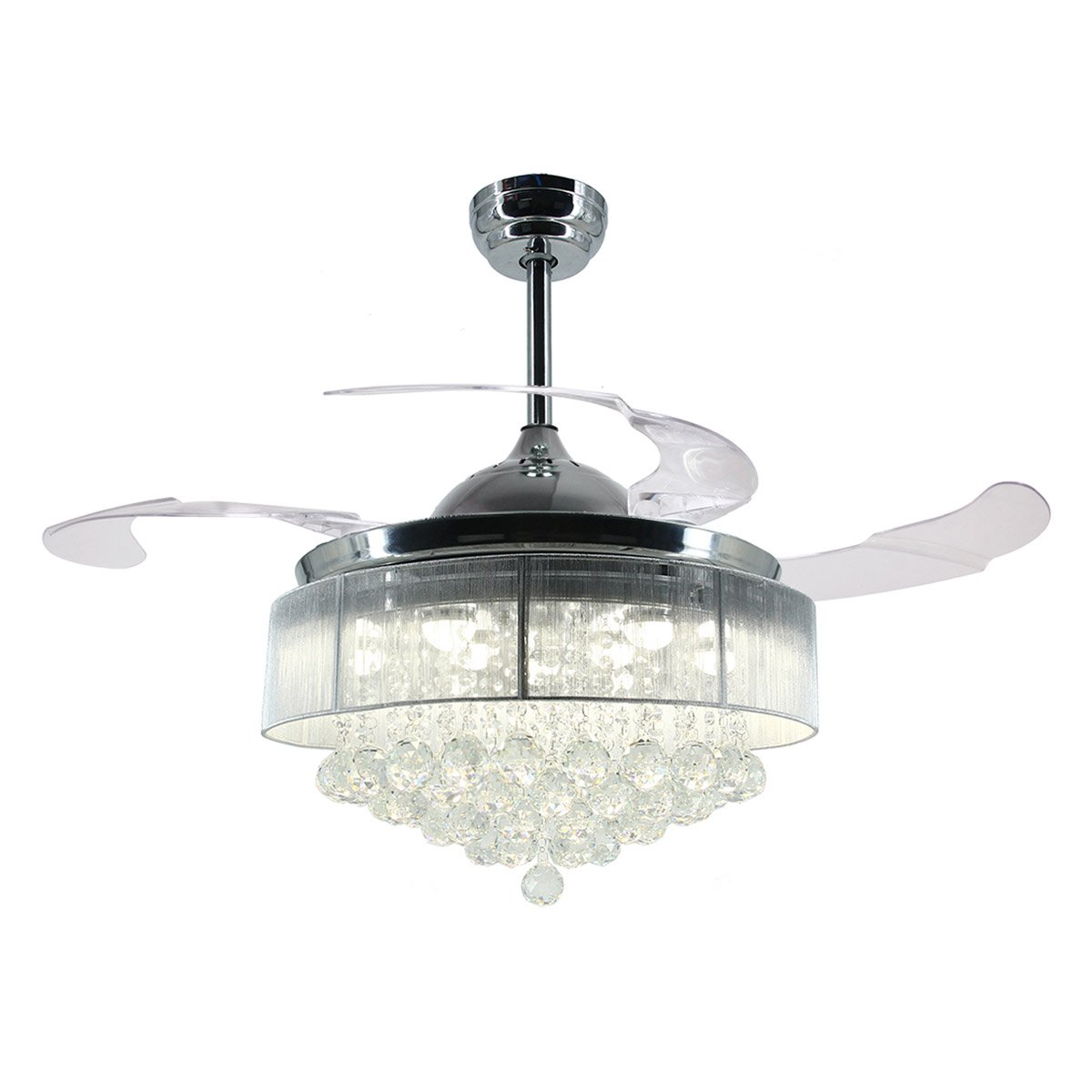 Buy parrot uncle ceiling fans with lights 42 modern led ceiling fan parrot uncle ceiling fans with lights 42 modern led ceiling fan retractable blades crystal chandelier arubaitofo Gallery