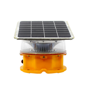 MET towers Hazardous Locations and Refineries ICAO FAA LED Flash solar powered aviation medium light