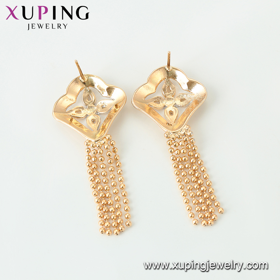 95737 New designs faddish trend earring, four leaf clover beautiful drop earrings for ladies