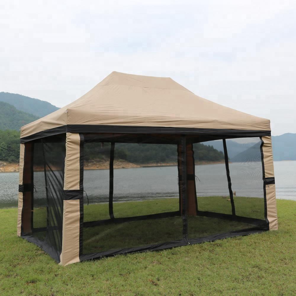 Durable 3x4,5 m al aire libre jardín patio yard de acero gazebos dosel para la gran venta al aire libre gazebo