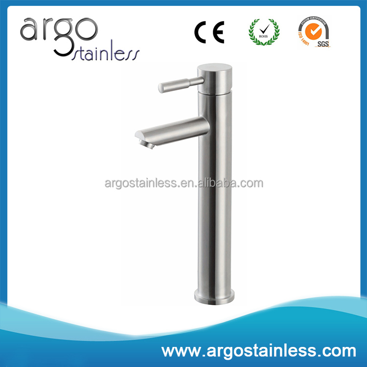 Factory price fast delivery stainless steel basin sink vessel faucet