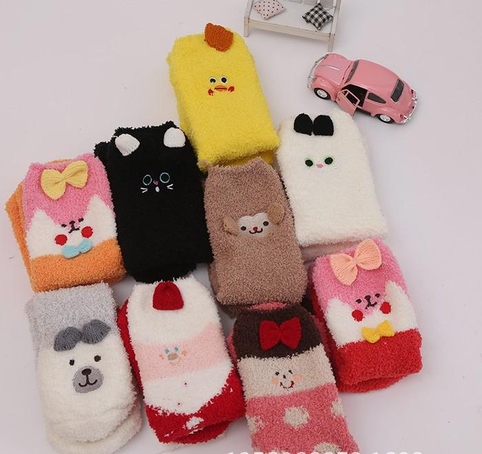 No Gift Box Winter Cute Kawaii Socks Meias Cartoon 3d Animals Elk Sheep Panda Funny Socks Women Warm Christmas Socks No Gift Box Be Friendly In Use Underwear & Sleepwears Women's Socks & Hosiery