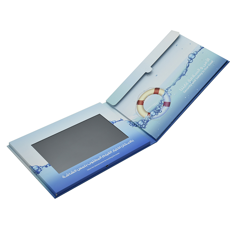 Tela LCD de alta qualidade de vídeo na impressão do folheto/Digital lcd vídeo cartão para o negócio de publicidade ou convite de casamento
