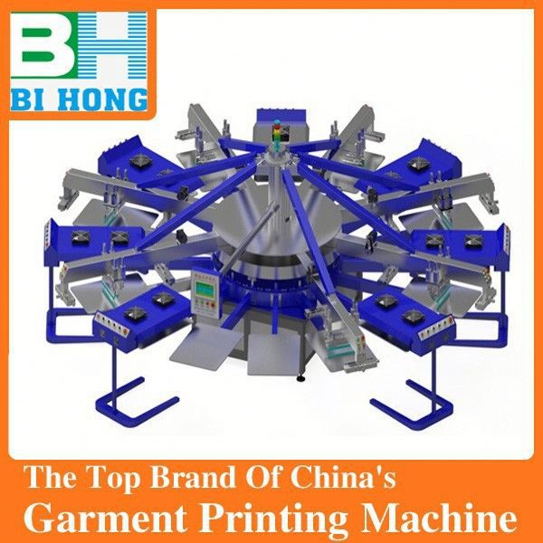Manufacture of diy floor type carousel 6/6 screen printing press for flat objects