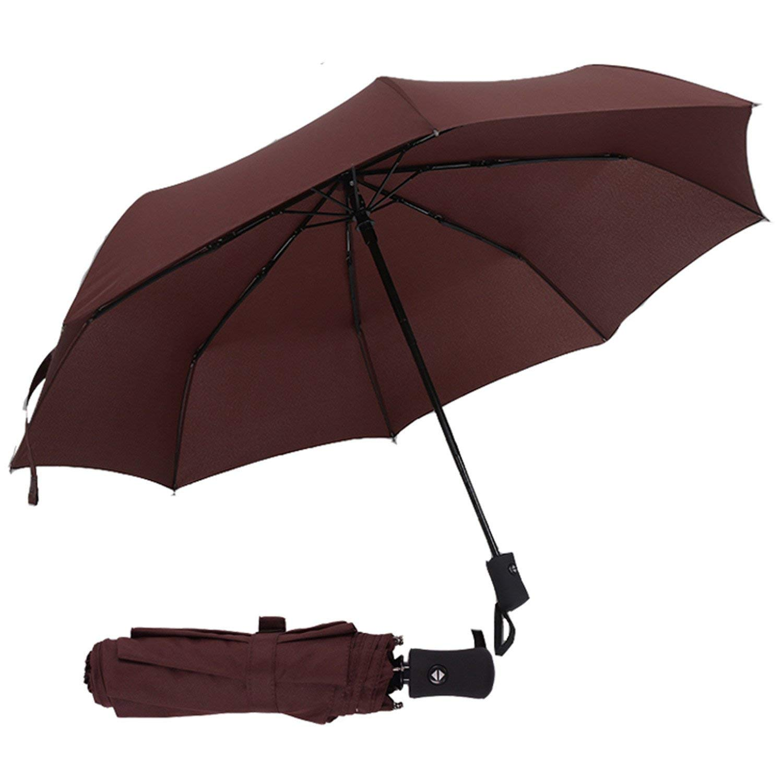 5be7dde1f Get Quotations · Full Automatic Umbrella Rain Women Men 3Folding Light And  Durable 386G 8K Strong Umbrellas Kids Rainy