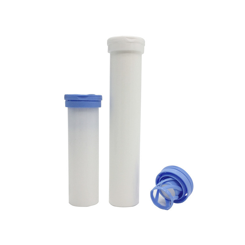 hot selling 40ml 60ml PP white plastic effervescent tablet <strong>tubes</strong> with custom logo