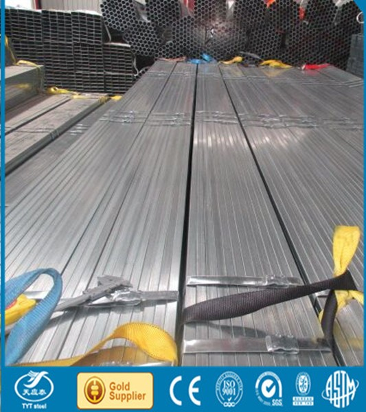 hot rolled galvanized pipe / PG pipes cross-section square steel tube