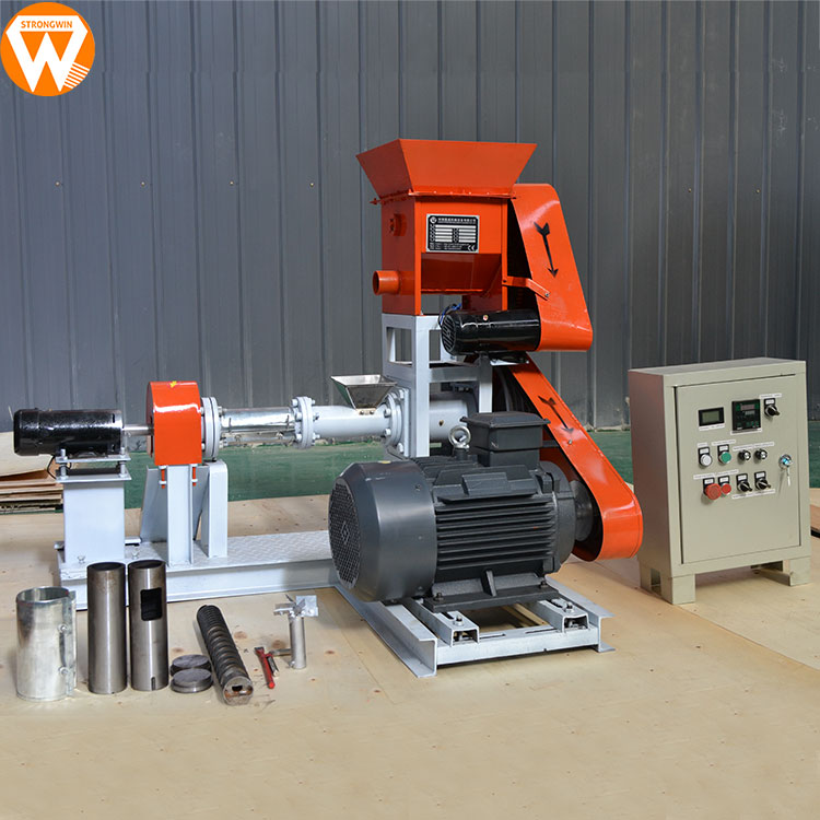 Henan Manufacturer supply automatic dog food pellet making machine pet extruder for sale