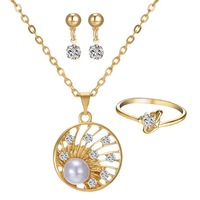 fashion gold plated Pendant Necklace jewelry setting