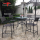 Plastic Injection Molding Patio Outdoor Furniture Rattan Wicker Glass Top Dining Table and Chair Set